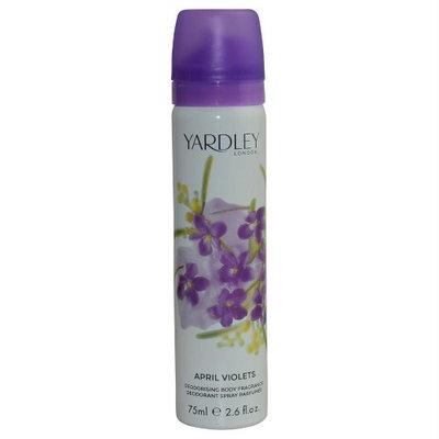 April Violets by Yardley London for Women - 2.6 oz Deodorant Body Spray