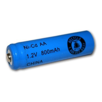 AA Size Rechargeable Battery 800mAh NiCd 1.2V Button Top Cell