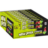 Now and Later Extreme Sour Soft Fruit Chews, Assorted Fruit Flavors, 2.75 Oz, 24 Ct