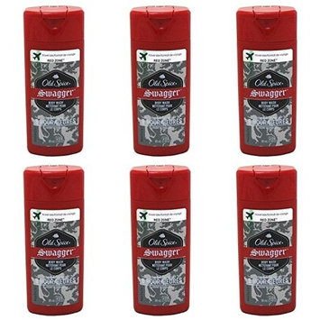 Spice Swagger Red Zone Body Wash Travel Size 3 Oz (Pack Of 6)