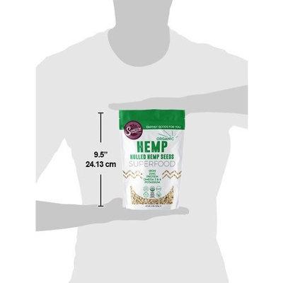 Suncore Foods - Premium Quality 100% Organic Hemp Seeds, 8oz Resealable Pouch