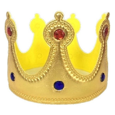 Child Prince Queen King Princess Crown Costume Accessory Gold with Jewels
