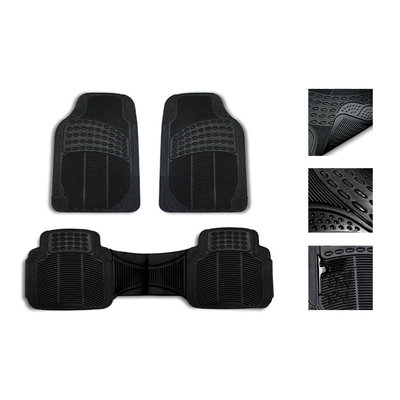 Beige Black Car Seat Covers for Auto w/Steering Cover/Belt Pads/Floor Mats