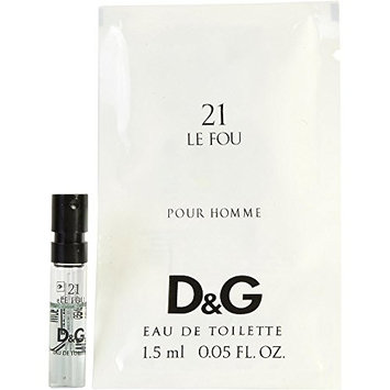 D & G 21 LE FOU by Dolce & Gabbana EDT VIAL for MEN ---(Package Of 3)