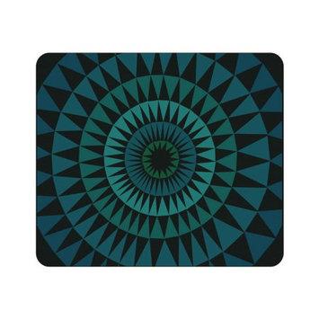 Centon Electronics OTM Prints Black Mouse Pad, Sun Print Blue Ivy - Sun Print Blue Ivy - Black - Rubber Base - Slip Resistant