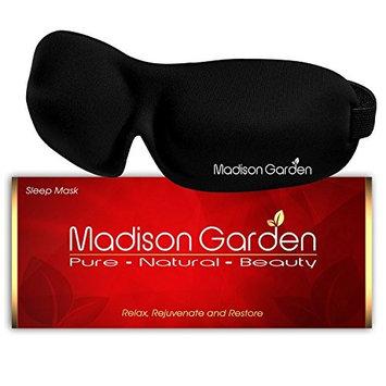Madison Garden® Sleep Mask - The Natural sleep master sleeping mask & silk blindfold, super-smooth eye mask and ear plugs comfortable & Contoured - the perfect eye mask for men women kids girls travel