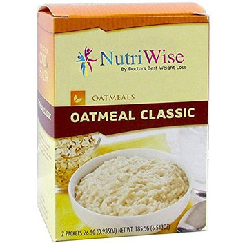 NutriWise - High Protein Diet Oatmeal | Classic | Low Calorie, Low Fat, Sugar Free (7/Box)