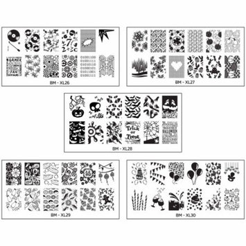 Full Nail Designs - XL Stamping Plates Set 3