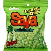 Calbee Saya Original Baked Snow Pea Crisps, 2.47 oz, (Pack of 6)