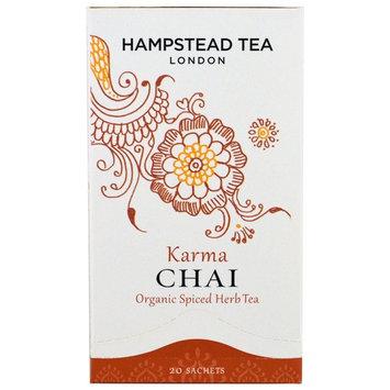 Hampstead Tea, Organic Spiced Herb Tea, Karma Chai, 20 Sachets, 1.41 oz (40 g) [Flavor : Karma Chai]