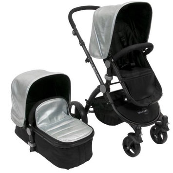 Babyroues Letour lux II Classique - classico silver canopy and cootcover/black frame