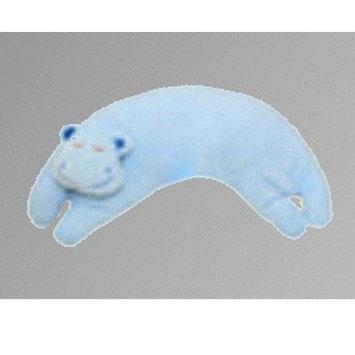 Angel Dear Curved Pillow, Blue Hippo