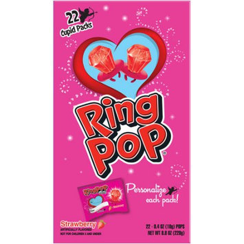 Ring Pop Valentine's Day Strawberry Cupid Packs, 0.4 oz, 22 count