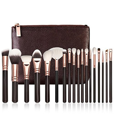 Loyalt 18PCS Rose Gold Makeup Brush Complete Eye Set Tools Powder Blending Brush