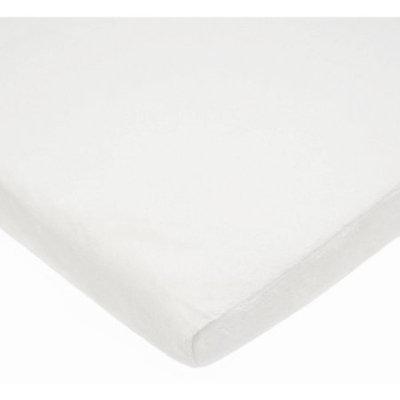Tl Care Inc TL Care Heavenly Soft Chenille Bassinet Sheet, White