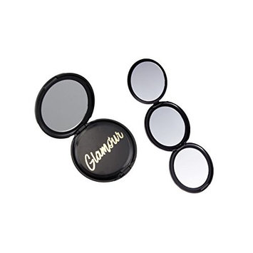 Onyx Professional 3-in-1 Folding Compact Magnifying Mirror - 1x, 2x, 5x Magnification, Purses, Handheld Travel & More