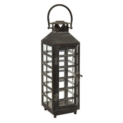Style & Home Drake Tall Candle Lantern One Size Grey