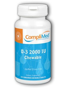 D-3 Chewable Cinnamon 2000 IU by Complimed