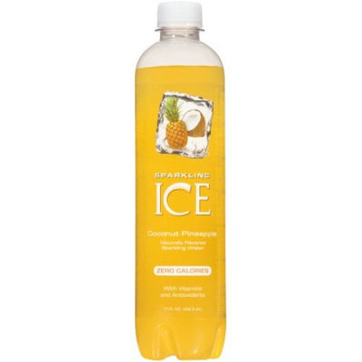 Talkingrain Beverage Co. Sparkling Ice Naturally Flavored Sparkling Water, Coconut Pineapple, 17 Fl Oz