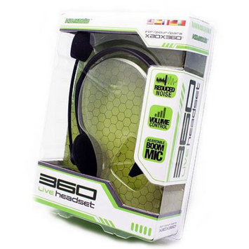 KMD (KOMODO) Live Chat Headset with Mic Black (Small) for XBOX 360