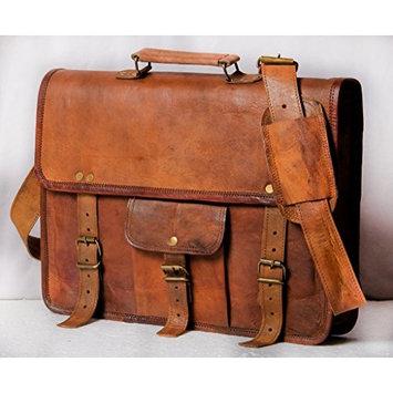 HandMadeCart Genuine Natural Leather Messenger Bag (for 15
