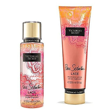 Victoria's Secret Pure Seduction Lace Body Mist and Fragrant Lotion Bundle