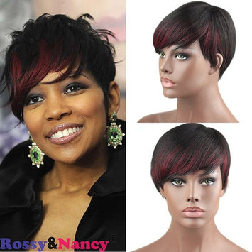 Rossy&Nancy 7A Brazilian Human Hair None Lace Short Wigs 1B Highlight 99J For African Americans Full Wig