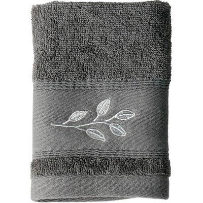 Saturday Knight, Ltd. Mainstays Silver Leaves Washcloth