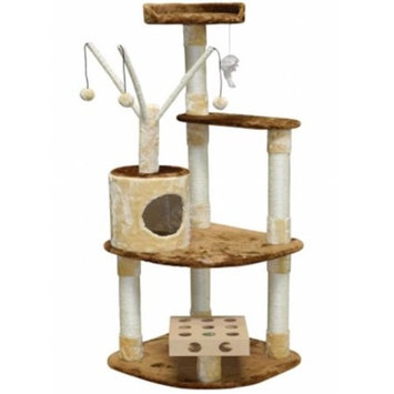 Go Pet Club Busy Box 60 in. Cat Tree