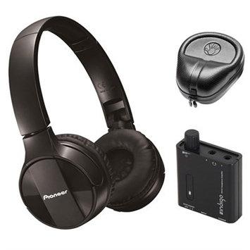 Pioneer On-Ear Wireless Headphones, Black w/ Amplifier Bundle
