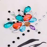 SYlive Face Jewels - Party Dress Eyeshadow Face 1 Sheet Jewel Crystal Eyes Sticker -Tattoo Diamond ZL12