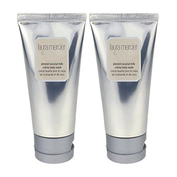 Laura Mercier Body & Bath Almond Coconut Milk Creme Body Wash 3.0z/90ml (Pack Of 2)