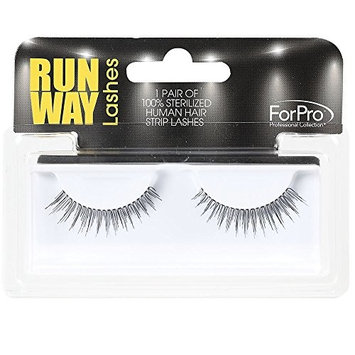 ForPro Runway Human Strip Lashes, Black, A34B, 2 Count [A34B]