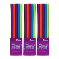 Bubba Brands Bubba Big Straws 5ct Reusable Staws, Bold Colors (Pack of 3)