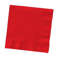 150-Count Touch of Color Paper Lunch Napkins, Classic Red