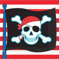 Amscan Pirate Party Beverage Napkins - 16 ct