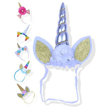 Girls Unicorn Headband - Unicorn Horn Party Hat for Toddlers, Kids or Baby Girl Birthday Party Costume