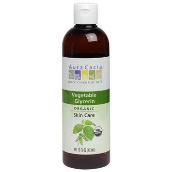 2 Packs of Aura Cacia Skin Care Oil - Organic Vegetable Glycerin Oil - 16 Fl Oz