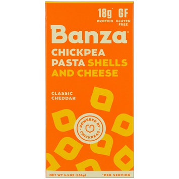 Banza, Chickpeas Pasta Shells and Cheese, Classic Cheddar, 5.5 oz (156 g)