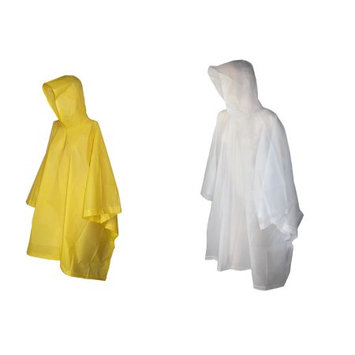 totes ISOTONER Unisex Rain Poncho with Hood (Pack of 2), Clear/Yellow