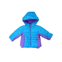 Pistachio Infant & Toddler Girls Blue & Purple Winter Ski Jacket Hooded Coat [baby_clothing_size: baby_clothing_size-2t]