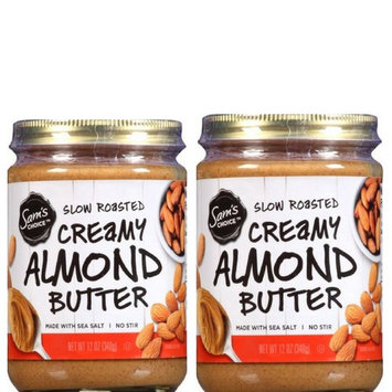 Sam's Choice Slow Roasted Creamy Almond Butter, 12 oz (Pack of 2)
