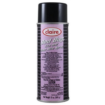 Claire C-006 13 Oz. Bed Bug, Lice and Dust Mite Spray Aerosol Can (Case of 12)