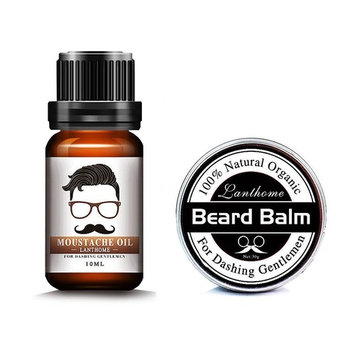 Beard Care Kit for Men Beard Balm, Beard Oil Leave-in Conditioner Natural Organic Oils and Butter Wax Mustache Styling, Shaping, Grooming & Growth for Gentlemen