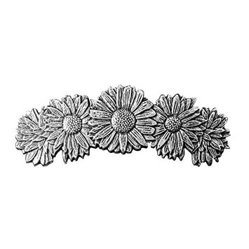 Daisies Hair Clip - Hand Crafted Metal Barrette Made in the USA with imported French Clips By Oberon Design …