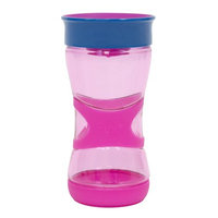 NUK Kids Magic 360 Rim Ultra Grip Cup,13 ounce, 1-pack, pink