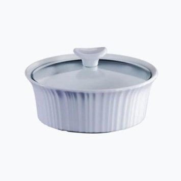 Corningware French White 1.5 Quart Round Casserole Dish with Lid