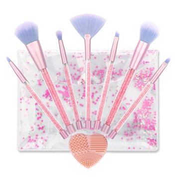 7Pcs Makeup Brush Set, Eyeshadow Eyebrow Eye Face Foundation Powder Blush Concealer Eyeliner Makeup Brush Set Contour Kit Cosmetic Brushes with Brush Case and for Shading & Blending