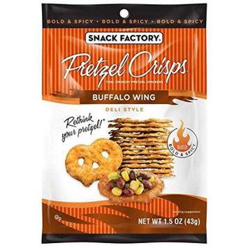 Snack Factory Pretzel Crisp Snack Bags - Buffalo Wing - 1.5 oz - 24 ct