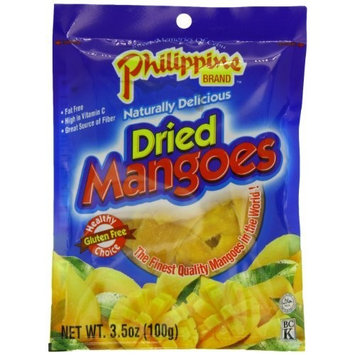 Philippine Brand Dried Mangoes, 3.53-Ounce Bags (Pack of 25)